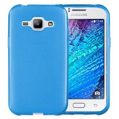 Microsonic Transparent Soft Samsung Galaxy J1 Kılıf Mavi Cep Telefonu Kılıfı