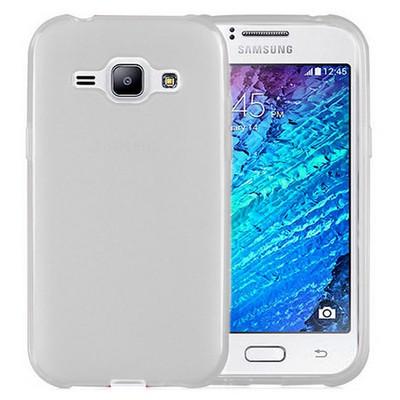 Microsonic Transparent Soft Samsung Galaxy J1 Kılıf Beyaz Cep Telefonu Kılıfı