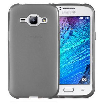 Microsonic Transparent Soft Samsung Galaxy J1 Kılıf Siyah Cep Telefonu Kılıfı