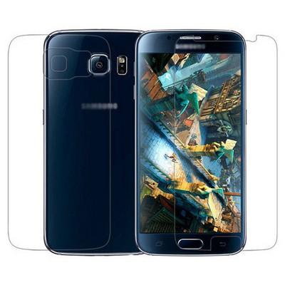 Microsonic Samsung Galaxy S6 Ön + Arka Koruyucu Şeffaf Film Ekran Koruyucu Film