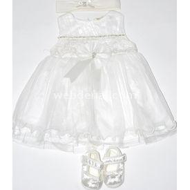 Flexi 465093 Kız Bebek Mevlüt Takımı Krem 3-6 Ay (62-68 Cm) Kız Bebek Hastane Çıkışı