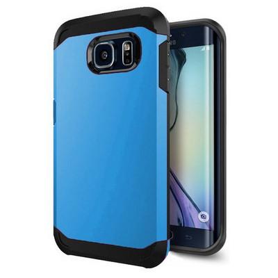 Microsonic Slim Fit Dual Layer Armor Samsung Galaxy S6 Edge Kılıf Mavi Cep Telefonu Kılıfı