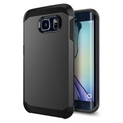 Microsonic Slim Fit Dual Layer Armor Samsung Galaxy S6 Edge Kılıf Gri Cep Telefonu Kılıfı