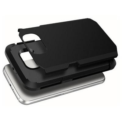 Microsonic Slim Fit Dual Layer Armor Samsung Galaxy S6 Edge Kılıf Siyah Cep Telefonu Kılıfı