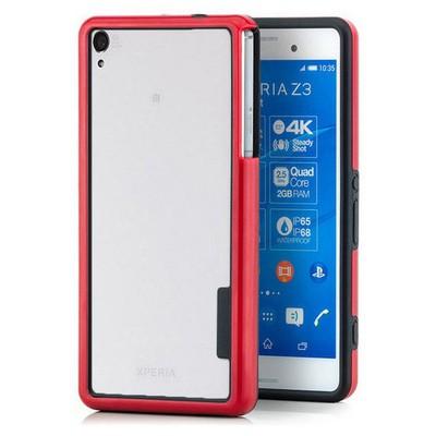 Microsonic Soft Bumper Sony Xperia Z3 Kılıf Kırmızı Cep Telefonu Kılıfı