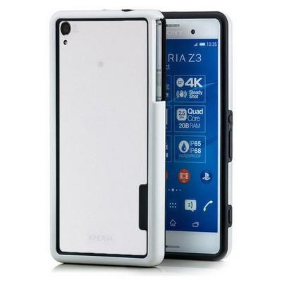 Microsonic Soft Bumper Sony Xperia Z3 Kılıf Beyaz Cep Telefonu Kılıfı