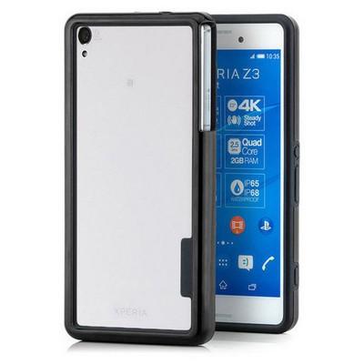 Microsonic Soft Bumper Sony Xperia Z3 Kılıf Siyah Cep Telefonu Kılıfı