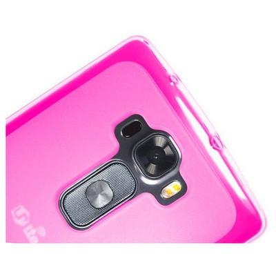 Microsonic Transparent Soft Lg G Flex 2 Kılıf Pembe Cep Telefonu Kılıfı