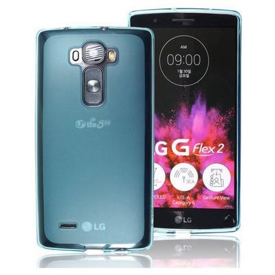 Microsonic Transparent Soft Lg G Flex 2 Kılıf Mavi Cep Telefonu Kılıfı
