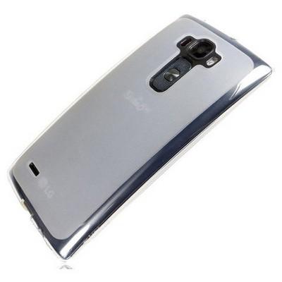 Microsonic Transparent Soft Lg G Flex 2 Kılıf Beyaz Cep Telefonu Kılıfı