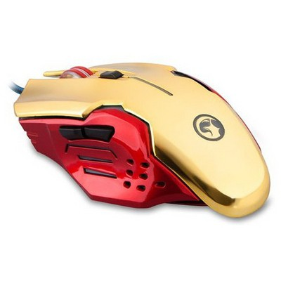 Everest SGM-X8 Gaming Mouse ve Pad - Kırmızı/Altın