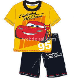 Cars 4059 Erkek Bebek Pijama Takımı Sarı 5 Yaş (110 Cm) Erkek Bebek Pijaması
