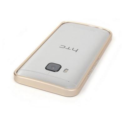 Microsonic Htc One M9 Thin Metal Çerçeve Kılıf Gümüş Cep Telefonu Kılıfı