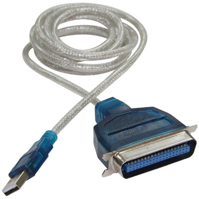Flaxes Fck-uıe1284 Usb 2.0 - Lpt 1284 Paralel Yazıcı Kablosu 1,5 Metre (wın7-8 Uyumlu) Yazıcı Kabloları
