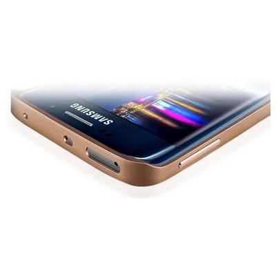 Microsonic Samsung Galaxy S6 Edge Thin Metal Çerçeve Kılıf Altın Sarısı Cep Telefonu Kılıfı