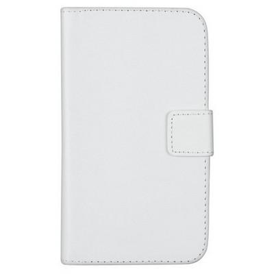 Microsonic Cüzdanlı Deri Samsung Galaxy K Zoom (s5 Zoom) Kılıf Beyaz Cep Telefonu Kılıfı
