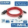 Dark DK-HD-AMHLSM180 1.8 Metre Samsung 11 Pin MHL-HDMI MHL 0 Ses ve Görüntü Kabloları