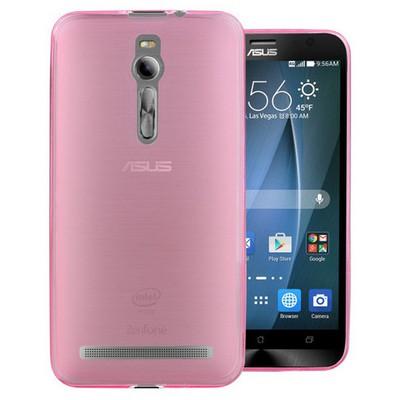 Microsonic Transparent Soft Asus Zenfone 2 (5.5'') Kılıf Pembe Cep Telefonu Kılıfı