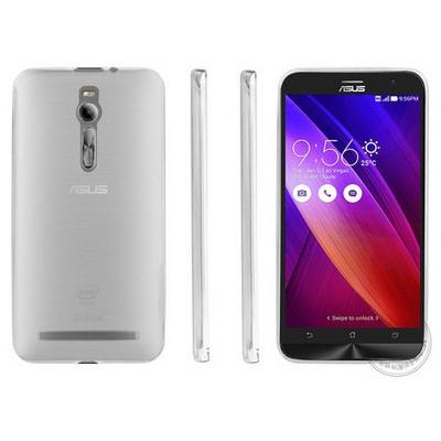 Microsonic Transparent Soft Asus Zenfone 2 (5.5'') Kılıf Beyaz Cep Telefonu Kılıfı