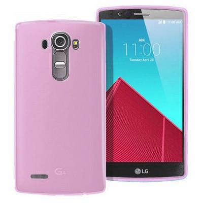 Microsonic Transparent Soft Lg G4 Kılıf Pembe Cep Telefonu Kılıfı