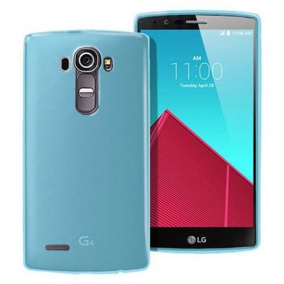 Microsonic Transparent Soft Lg G4 Kılıf Mavi Cep Telefonu Kılıfı