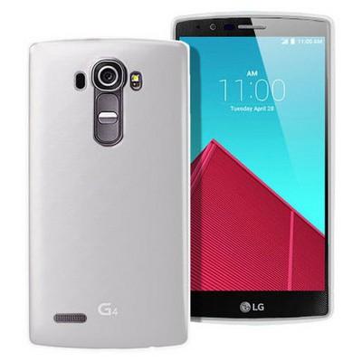 Microsonic Transparent Soft Lg G4 Kılıf Beyaz Cep Telefonu Kılıfı