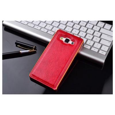 Microsonic Derili Metal Delüx Samsung Galaxy E7 Kılıf Kırmızı Cep Telefonu Kılıfı