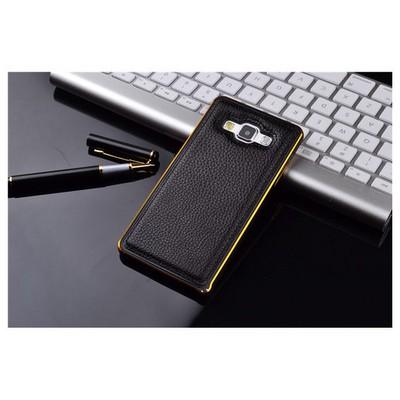 Microsonic Derili Metal Delüx Samsung Galaxy E5 Kılıf Siyah Cep Telefonu Kılıfı