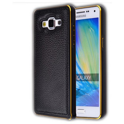 Microsonic Derili Metal Delüx Samsung Galaxy A7 Kılıf Siyah Cep Telefonu Kılıfı