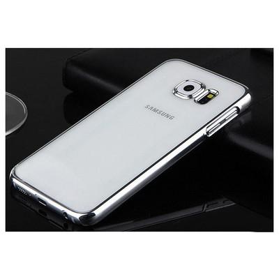 Microsonic Metalik Transparent Samsung Galaxy S6 Kılıf Gümüş Cep Telefonu Kılıfı