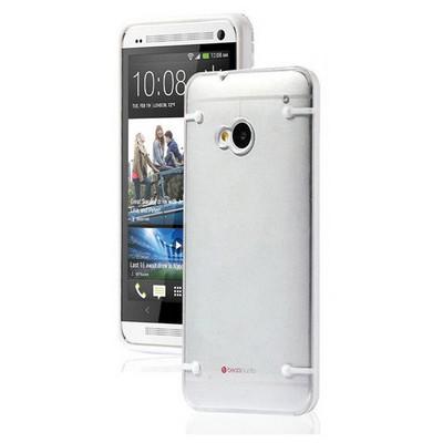 Microsonic Hybrid Transparant Htc One M7 Kılıf Beyaz Cep Telefonu Kılıfı