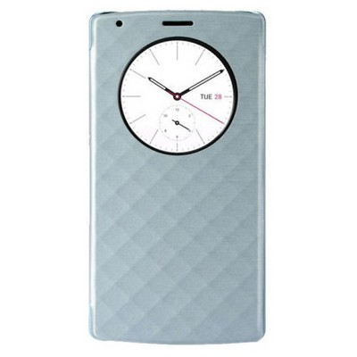 Microsonic Circle View Delux Kapaklı Lg G4 Kılıf Akıllı Modlu Mavi Cep Telefonu Kılıfı