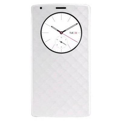 Microsonic Circle View Delux Kapaklı Lg G4 Kılıf Akıllı Modlu Beyaz Cep Telefonu Kılıfı