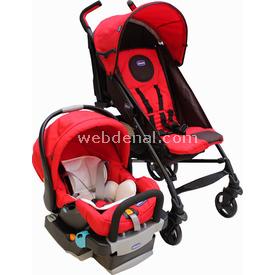 Chicco Lite Way Plus Bazalı Bebek Arabası Kırmızı Travel Sistem Bebek Arabası