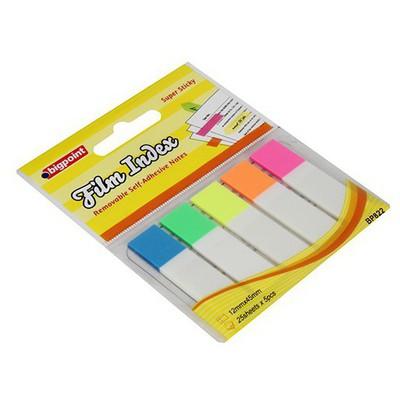 Bigpoint Yapışkanlı Film Index Beyaz 5 Renk Not Kağıdı