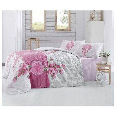 Altınbaşak Rosen Uyku Seti Çift Kişilik - Pembe Uyku Setleri