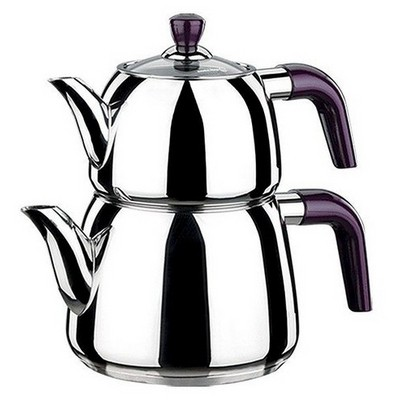 Korkmaz A096 Viola Çaydanlık Takımı Çaydanlık & Cezve