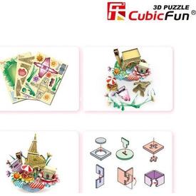 Cubic Fun 3d 74 Parça  Cityscape - Paris Puzzle