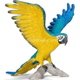 Schleich Mavi Sarı Macaw Figür 9 Cm Figür Oyuncaklar