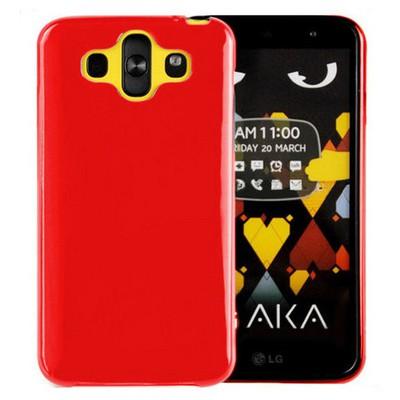 Microsonic parlak Soft Lg Aka Kılıf Kırmızı Cep Telefonu Kılıfı