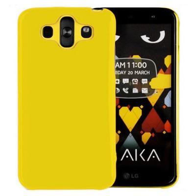 Microsonic parlak Soft Lg Aka Kılıf Sarı Cep Telefonu Kılıfı
