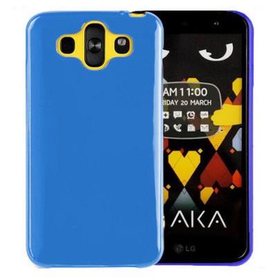 Microsonic Glossy Soft Lg Aka Kılıf Mavi Cep Telefonu Kılıfı