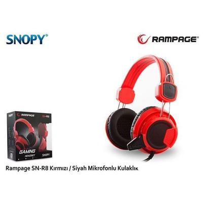 RAMPAGE Sn-r8k Rampage Sn-r8 Kırmızı/siyah Mikrofonlu Kulaklı Kafa Bantlı Kulaklık