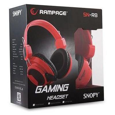 Snopy Sn-r8k Rampage Sn-r8 Kırmızı/siyah Mikrofonlu Kulaklı Kafa Bantlı Kulaklık