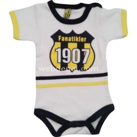 Özge Mini Pop Özge Minipop 28002 Yarım Kollu Body Sarı-lacivert 3-6 Ay (62-68 Cm) Kız Bebek Body