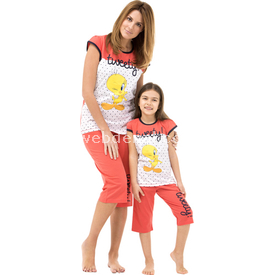 Roly Poly 3265 Anne Pijama Takımı Tweety Narçiçeği S Gecelik & Pijama