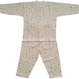 Sebi Bebe 51032 Kız Bebek Pijama Takımı Pembe 0-3 Ay (56-62 Cm) Kız Bebek Pijaması