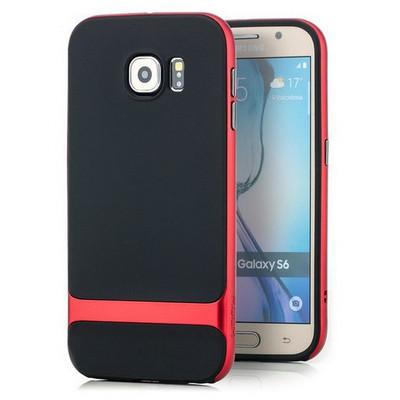 Microsonic Rock Royce Series Hybrid Samsung Galaxy S6 Kılıf Red Cep Telefonu Kılıfı