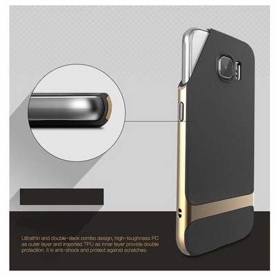 Microsonic Rock Royce Series Hybrid Samsung Galaxy S6 Kılıf Iron Grey Cep Telefonu Kılıfı