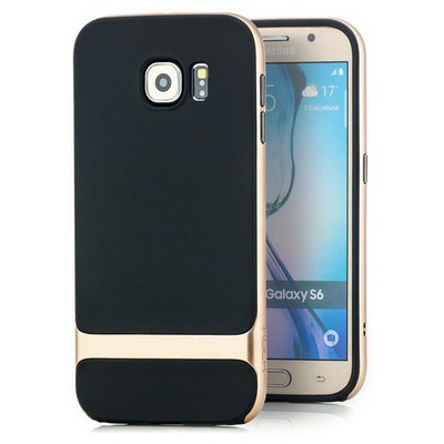 Microsonic Rock Royce Series Hybrid Samsung Galaxy S6 Kılıf Gold Cep Telefonu Kılıfı